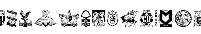 English Football Club Badges Font LOWERCASE