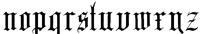 English-Gothic--17th-c- Font LOWERCASE