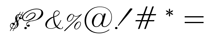 English Script Font OTHER CHARS