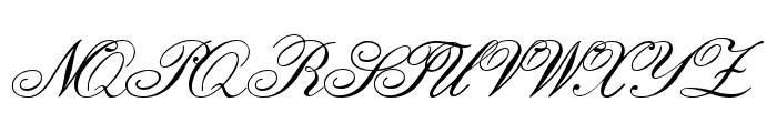 English Script Font UPPERCASE