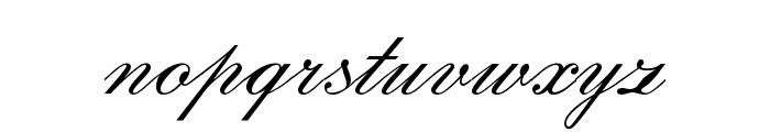 English Script Font LOWERCASE