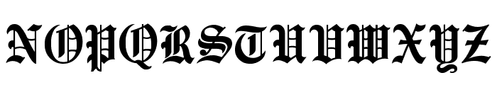 EnglishTowne Font UPPERCASE