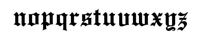 EnglishTowne Font LOWERCASE