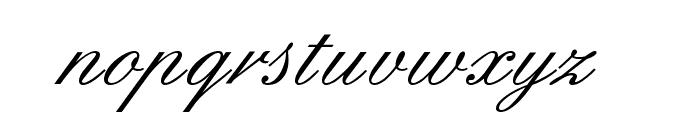 English Font LOWERCASE