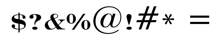 Engravers' Roman Bold BT Font OTHER CHARS