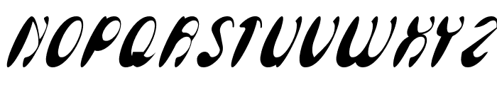 Enjoy The Time Italic Font UPPERCASE