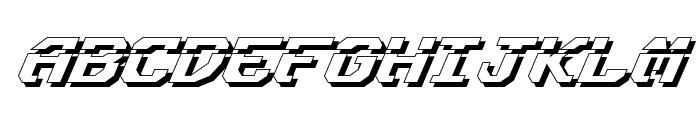 Ensign Flandry LasShad Italic Font UPPERCASE