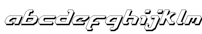 Ensign Flandry Shadow Italic Font LOWERCASE