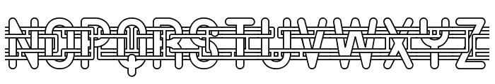 Entangled -BRK- Font UPPERCASE