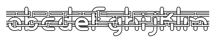 Entangled -BRK- Font LOWERCASE