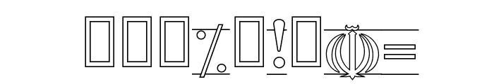 Entezaar II Font OTHER CHARS