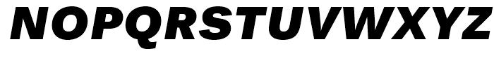 Endurance WGL Black Italic Font UPPERCASE