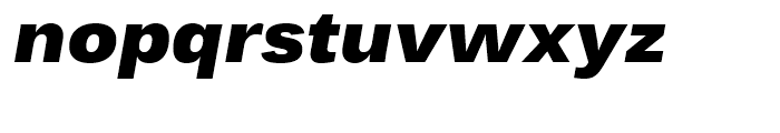 Endurance WGL Black Italic Font LOWERCASE