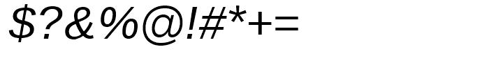 Endurance WGL Italic Font OTHER CHARS