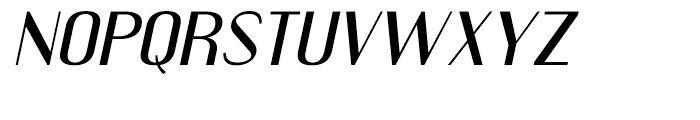 Engebrechtre Extended Italic Font UPPERCASE