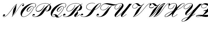 Englische Schreibschrift Bold Font UPPERCASE