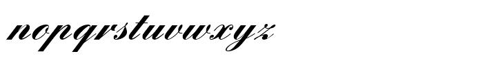 Englische Schreibschrift Bold Font LOWERCASE