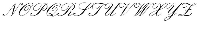 Englische Schreibschrift Regular Font UPPERCASE