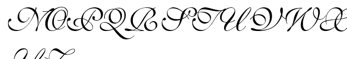 English 111 Presto Font UPPERCASE
