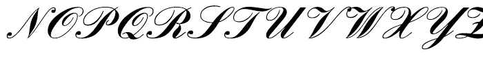 English Script Bold Font UPPERCASE