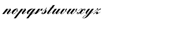 English Script Bold Font LOWERCASE