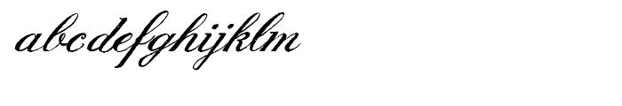 English Script Hand Font LOWERCASE