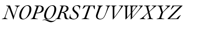 Engravers Oldstyle 205 Italic Font UPPERCASE