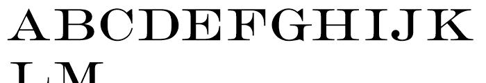 Engravers Roman D Font UPPERCASE