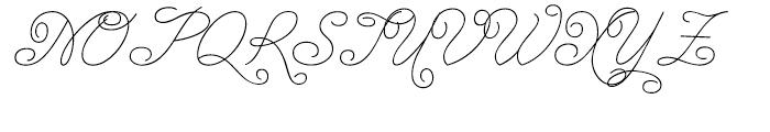 Enocenta Basic Hairline Font UPPERCASE