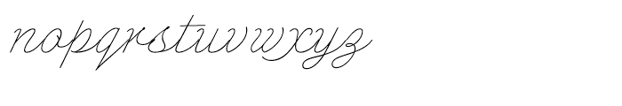 Enocenta Basic Hairline Font LOWERCASE