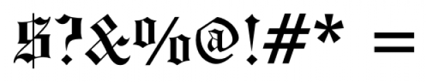 Engravers Old English FS Bold Font OTHER CHARS
