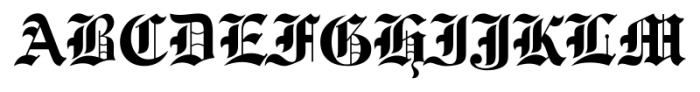 Engravers Old English FS Bold Font UPPERCASE