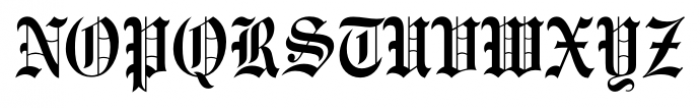 Engravers Old English FS Medium Font UPPERCASE