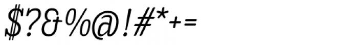Enagol Math Light Italic Font OTHER CHARS