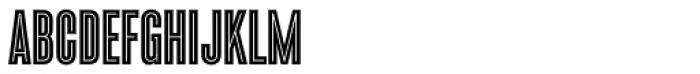Enamel Inline Font UPPERCASE