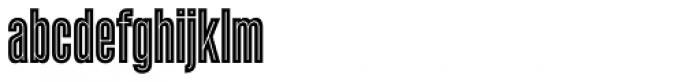 Enamel Inline Font LOWERCASE