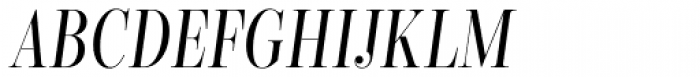 Encorpada Classic Comp Italic Font UPPERCASE