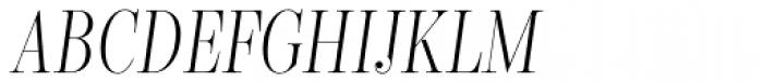 Encorpada Classic Comp Light Italic Font UPPERCASE