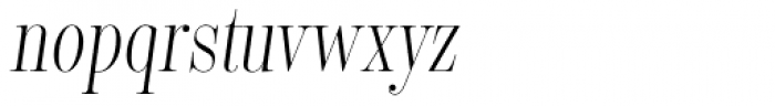 Encorpada Classic Comp Light Italic Font LOWERCASE