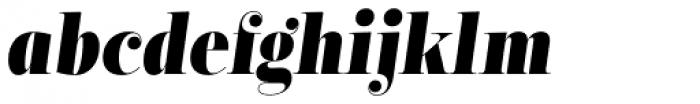 Encorpada Classic Cond ExtraBold Italic Font LOWERCASE