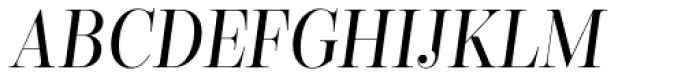 Encorpada Classic Cond Italic Font UPPERCASE