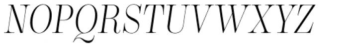 Encorpada Classic Cond Light Italic Font UPPERCASE