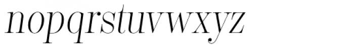 Encorpada Classic Cond Light Italic Font LOWERCASE