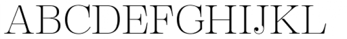 Encorpada Essential Extra Light Font UPPERCASE