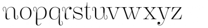 Encorpada Essential Extra Light Font LOWERCASE