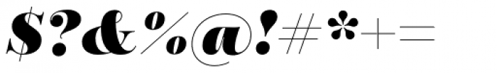 Encorpada Pro Black Italic Font OTHER CHARS