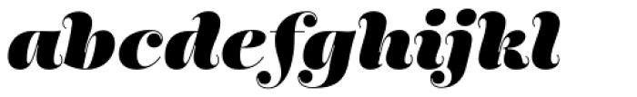 Encorpada Pro Black Italic Font LOWERCASE