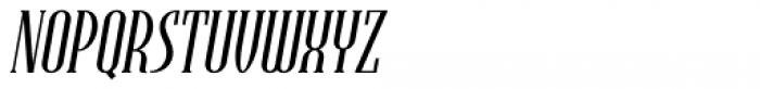 Endeavora Serif Slanted Font UPPERCASE