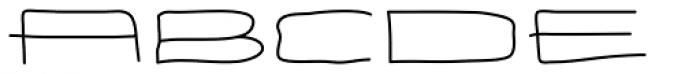 Eneas Expanded Regular Font LOWERCASE
