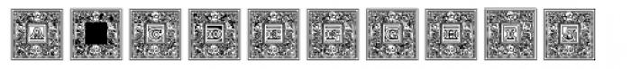 Engel Frame Lined Font LOWERCASE
